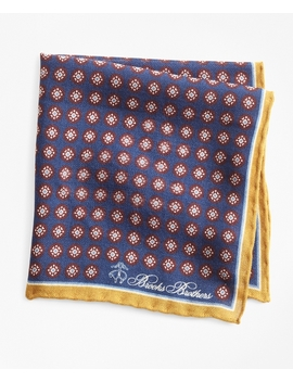 Medallion Pocket Square by Brooks Brothers