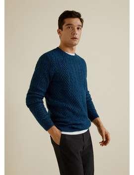 Herringbone Structured Sweater by Mango