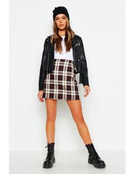 Tartan A Line Mini Skirt by Boohoo