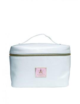 Jeffree Star Cosmetics White Glitter Travel Makeup Bag by Jeffree Star Cosmetics