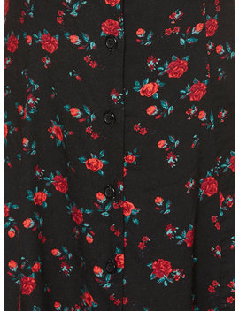 Rose Button Front Dress by Hot Topic