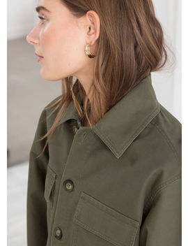 Cropped Cotton Twill Jacket by & Other Stories