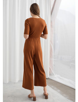 Stretch Rib Knit Jumpsuit by & Other Stories