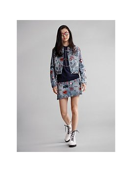 Embroidered Denim Jacket And Skirt, Peace Pullover, Tavie Combat Boot by Michael Michael Kors