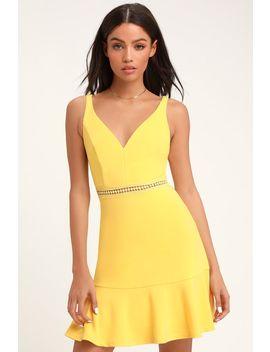 Lover Of Mine Pale Yellow Crochet Lace Mini Dress by Lulus
