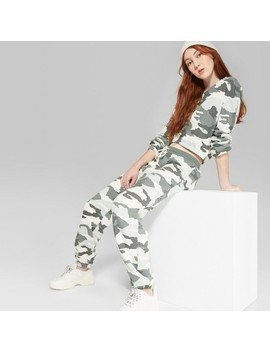 Women's Jogger Camo Print Vintage Sweatpants   Wild Fable™ Green by Wild Fable