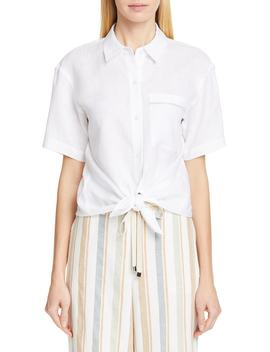 Justice Linen Shirt by Lafayette 148 New York
