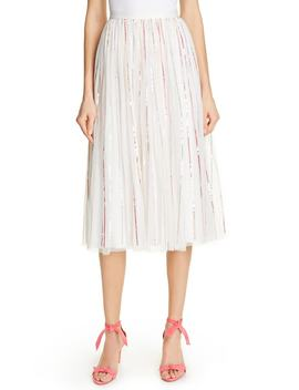 Shimmer Sequin Stripe Midi Skirt by Needle & Thread
