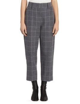 Glossy Check Trousers by Acne Studios