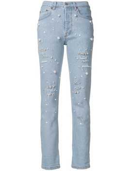 Pearl Embellished Jeans by Forte Dei Marmi Couture