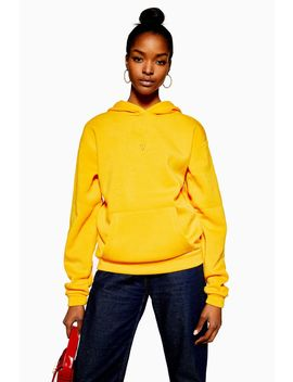 Tall Yellow Heart Hoodie by Topshop