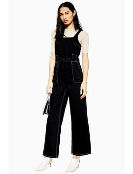 Square Neck Denim Jumpsuit by Topshop