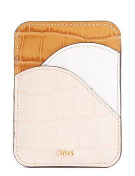 Walden Crocodile Embossed Leather Card Holder by ChloÉ