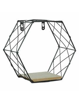 Iron Hexagonal Grid Wall Shelf Combination Wall Hanging Geometric Figure Cjm by Ebay Seller