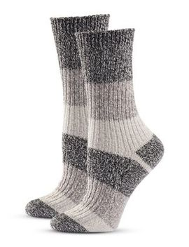 Women's Two Pack Striped Crew Socks by Columbia