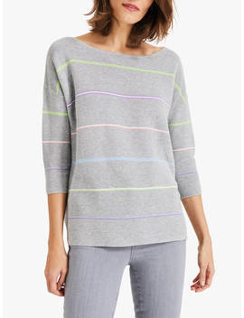 Phase Eight Piera Rainbow Knitted Jumper, Grey by Phase Eight