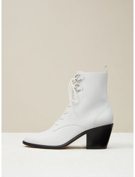Dakota Leather Lace Up Boots by Dvf
