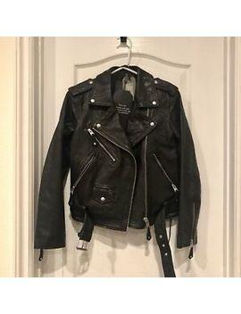 All Saints Sarana Leather Jacket Black Us Size 6 by All Saints