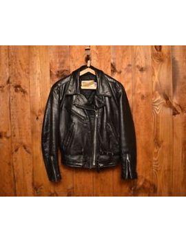 Schott Perfecto Rare 116 Vintage Women's Riders Motorcycle Leather Jacket L 14 by Schott