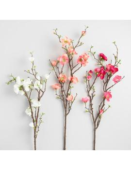 Faux Quince Blossom Sprays Set Of 3 by World Market
