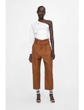 Darted Trousers With Belt  New Inwoman by Zara