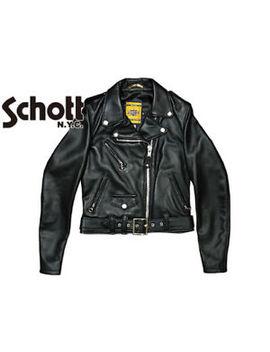 Schott Nyc 218 W Women's Cropped Perfecto Black Lambskin Leather Jacket by Schott Nyc