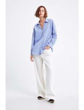 Oversized Striped Shirt  New Inwoman by Zara