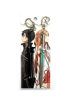 Anime Sword Art Online Kirito Asuna Weapon 2 Pcs Keychain by Anrox Supply Co.
