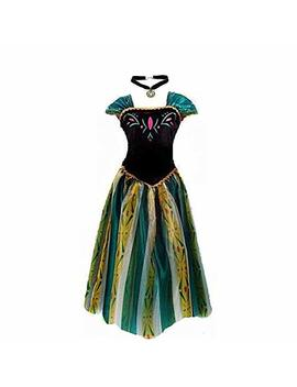 Kuisen Princess Costume Adult Women Anna Elsa Coronation Dress Costume by Kuisen