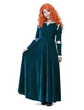 Miccostumes Women's Merida Adult Cosplay Costume Dark Green by Miccostumes