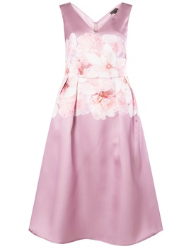 **Luxe Blush Bow Prom Dress by Dorothy Perkins