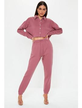 Mauve Oversized 90s Joggers by Missguided