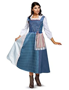 Disney Women's Belle Village Dress Deluxe Adult Costume by Disney