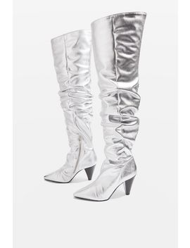 Boxer High Leg Patent Boots by Topshop