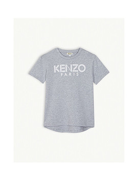 Logo Cotton T Shirt 4 14 Years by Kenzo