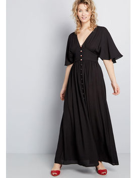 Peaceful Presence Buttoned Maxi Dress by Modcloth
