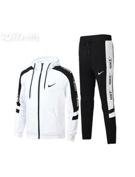 Men's Casual Sport Suit Jacket+ Pants 2pcs Tracksuits by I Offer