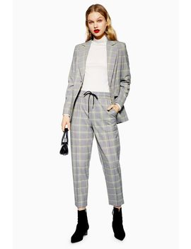 Windowpane Check Joggers by Topshop