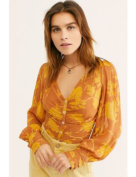 If You Had My Love Printed Blouse by Free People