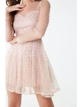 Sequin Diamond Print Dress by Forever 21