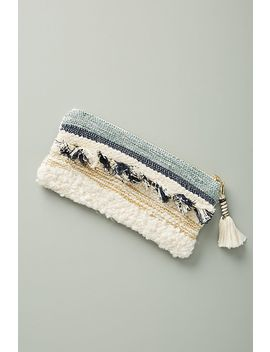Pom Pom Chenille Pencil Pouch by Anthropologie