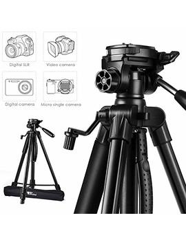 "Amzdeal Camera Tripod 63"" Portabal Aluminum Tripod With 3 D Head,Spirit Level,Lightweight Travel Tripod For Dslr Canon,Nikon,Sony,Samsung,Olympus,Panasonic,Dv,Projector Phone And Gopro With Carry Bag by Amzdeal"