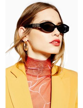 Angular Oval Sunglasses by Topshop