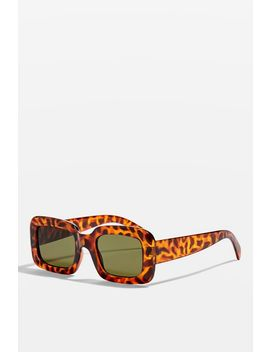 Willis Chunky Rectangle Sunglasses by Topshop