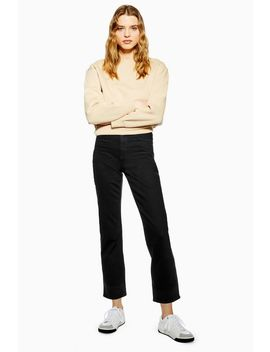 Clean Black Straight Jeans by Topshop