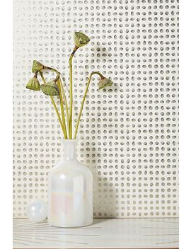 Metallic Dotted Wallpaper by Anthropologie