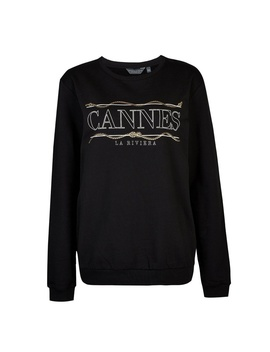 **Tall Black 'cannes' Sweat Top by Dorothy Perkins