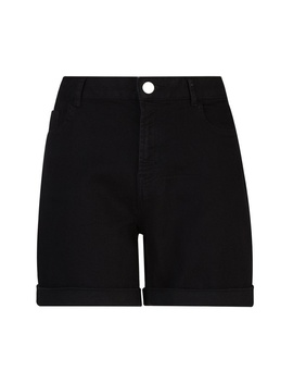 **Tall Black Denim Shorts by Dorothy Perkins