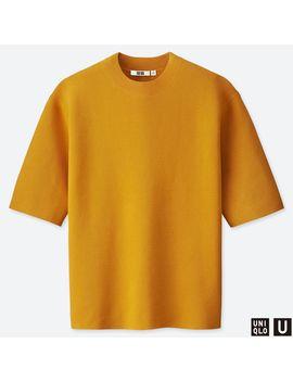 U Milano Ribbed Crew Neck Short Sleeve Sweater by Uniqlo
