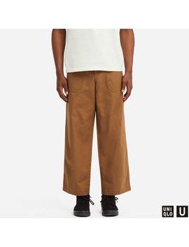 U Wide Straight Baker Pants by Uniqlo